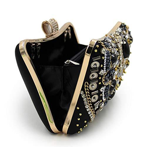 Jxth Evening Evening for Evening Suitable Handbags Purse Party Parties Clubs Dinner Clutch Wedding Bags Women Clutch For amp; Rhinestone Hard Beading Purse Diamond Handbag r5Yx5zqwH