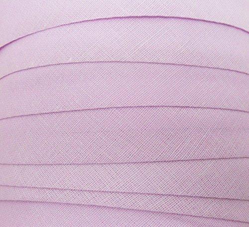 10 Meter Schr/ägband Baumwolle Blende Flieder 20 mm Textilband