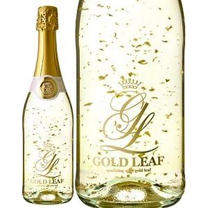 プレゼント ギフト お祝いに! ゴールド リーフNV (金箔入りスパークリング ワイン)(泡 白)