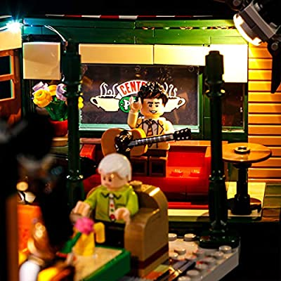 RAVPump Light Set for Central Perk Friends Blocks Model - LED Light Kit Lighting Kit Compatible with Lego 21319 ( Lego Set not Included ): Toys & Games