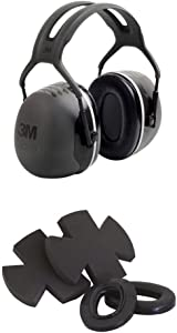 3M Peltor X5A Earmuffs (NRR 31 dB) with Peltor HYX5 Hygiene Kit