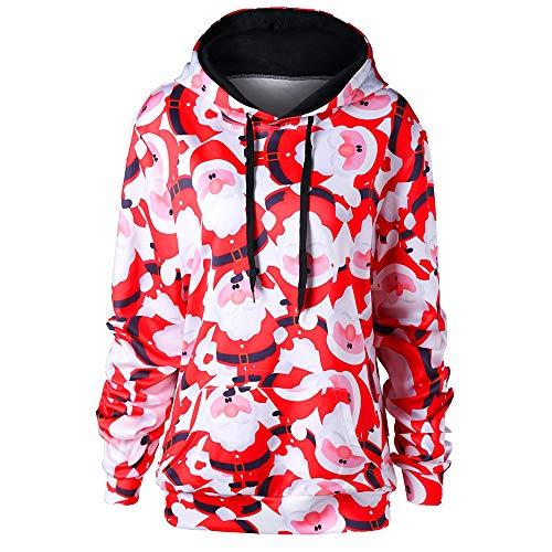 AIEason Women Santa Claus Print Long Sleeve Hoodie Sweatshirt Tops Blouse Shirt from AIEason-Fashion Hoodies & Sweatshirts