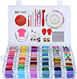 Embroidery Floss 418 Embroidery Thread String Kits with Organizer Storage Box Included 108pcs Colorful Friendship…