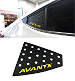 Sell by Automotiveapple, DXSOAUTO Rear Glass Window Sports Plate C Pillar 2-pc Set For 2017 Hyundai Elantra : AVANTE AD (Lettering Color : Yellow)