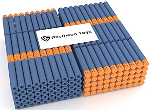 Waffle Darts 300-Pieces Set, Ultimate Nerf Foam Toy Darts By Raytheon Toys, Premium Refill Bullets For N-Strike Guns, Universal Mega Pack, Firm and Safe Nerf Accessories Amazing Precision - Gun Sniper Set