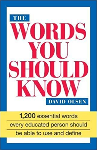 Amazon The Words You Should Know 0045079000186 David Olsen