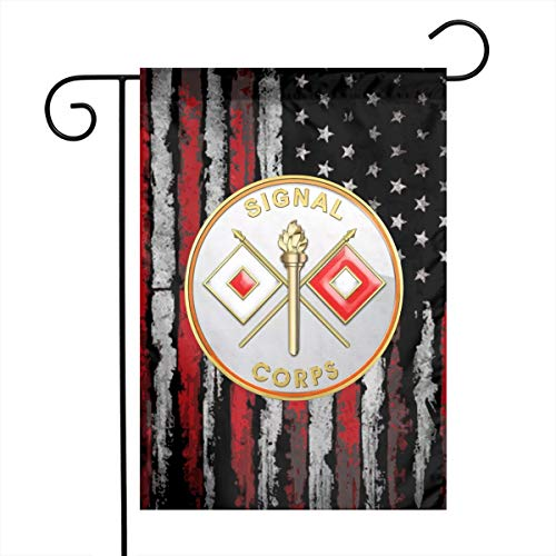 JANLAGEJR-FLAG US Army Signal Corps Garden Flags 18 X 12 Inch Holiday Outdoor Yard Flags
