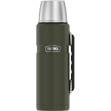 Thermos Stainless King 40 Ounce Beverage Bottle, Army Green
