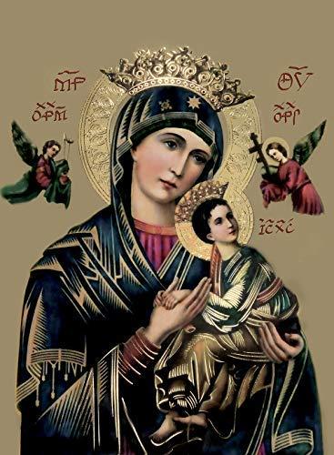 [해외]아우 어 마 더 오브 퍼 페 추 얼 헬프 (8X10)-종교적 벽 아트 프린트 포스터 / Our Mother of Perpetual Help (8X10) - Religious Wall Art Print Poster