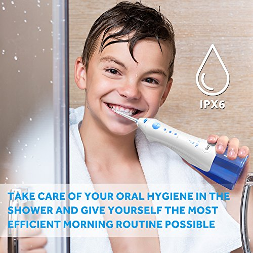 Lavany Water Flosser Cordless Oral Irrigator Professional Rechargeable Portable Dental Water Jet With 4 Jet Tips For Braces and Teeth Whitening,Travel and Home Use by Lavany (Image #4)