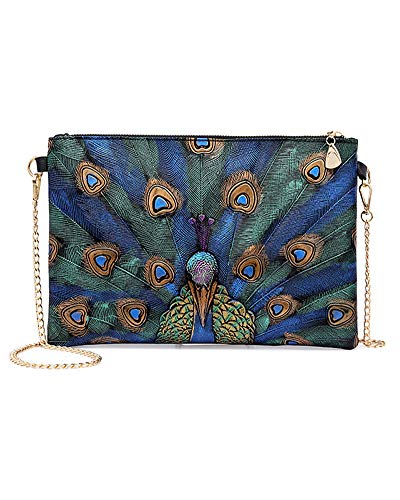 ZJFZML Envelope Clutch Purses for Women Lightweight Simple Design with Removable Chain Strap Prom Party Ladies Flap Bag PU Leather Handbag Evening sShoulder Bags with Pocket Large Wallets Green Black