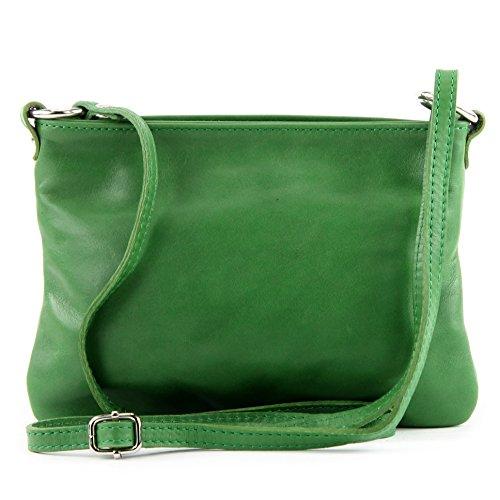 Made Italy - Bolso cruzados para mujer (22.5 x 16 cm) Verde