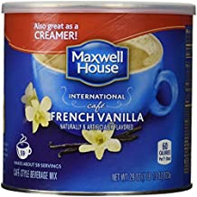 Maxwell House International Coffee French Vanilla Cafe, 29 Ounce Cans (Pack of 2).