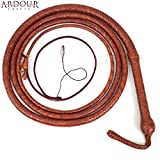 BULL WHIP 10 Feet 12 Plaits Cow Hide Tan Leather CUSTOM BULLWHIP Belly and Bolster Construction