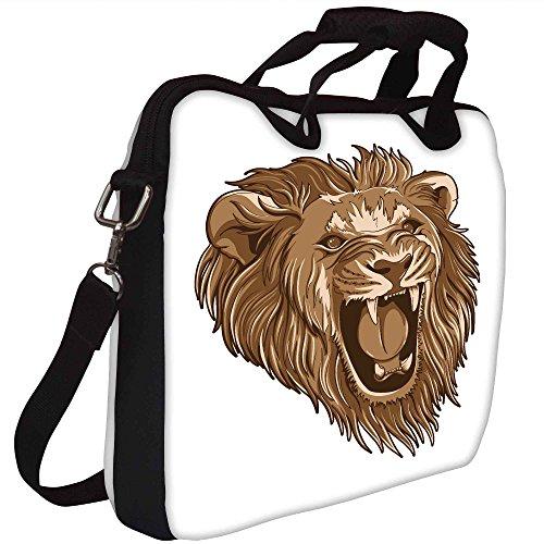 Snoogg Grafik Lion Gedruckt Notebook-Tasche mit Schultergurt 15 bis 15,6 Zoll