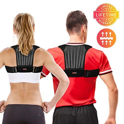 Posture Corrector for Men and Women, Adjustable Shoulder Spinal Support Posture Correction Back Brace, Physical Therapy Clavicle Brace for Hunchback, Upper Back & Shoulder Pain Relief (Posture)