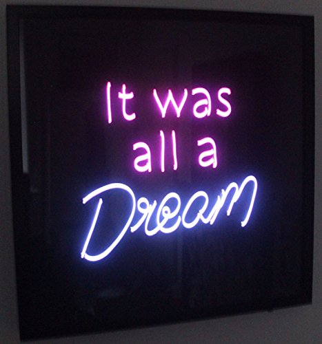 "Desung Brand New 17"" It Was All A Dream (Various sizes) CUSTOM Design Decorated Acrylic Panel Handmade Man Cave Neon Sign Light UT106"