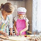Hicdaw Kids Cooking Set, 31PCS Kids Chef Hat