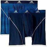 adidas Men's Sport Performance Climalite Boxer Briefs Underwear (2-Pack), Sundown Collegiate Navy Collegiate Navy/Grey, Medium