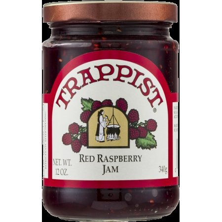 Trappist Red Raspberry Jam - All Natural 12 oz.