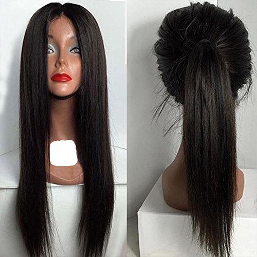 """PlatinumHair Long and Natural Straight Wigs Synthetic Lace Front Wigs Heat Resistant Glueless for Women Lace Front Wigs 24-26"""""""
