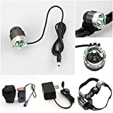 1 Pcs Good Popular Style 3 Modes 1800 Lumens LED Bike Lights Cycling Headlight Rechargecable Aluminum Torch Color Gray