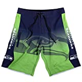 FOCO Seattle Seahawks Gradient Board Short Extra Large 36