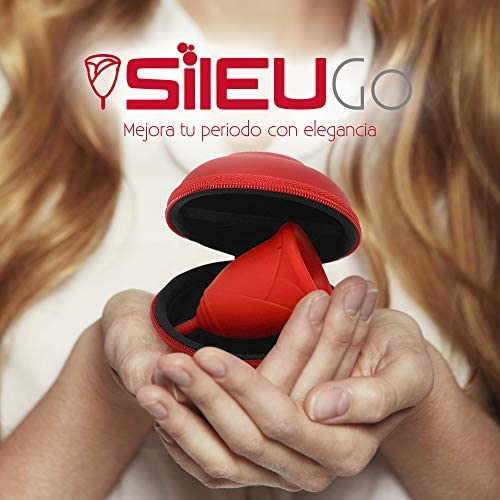 Pack Sileu Go: Copa menstrual Rose - Modelo de iniciación - Alternativa ecológica, natural a tampones y compresas - Talla S, Rojo, Flexibilidad ...