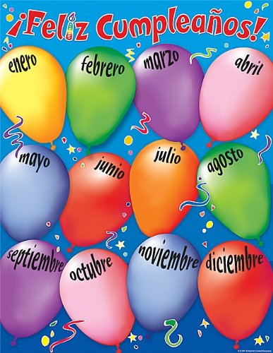 Teacher Created Resources Happy Birthday (Spanish) Chart, Multi Color (7691)