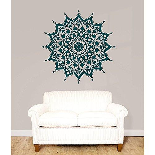 Mandala Stencil Radiance - Trendy Easy Beautiful DIY Wall Stencil Designs - Reusable Stencils for DIY Home Decor - By Cutting Edge Stencils (44'') by Cutting Edge Stencils (Image #5)