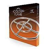 "Golden Flame 18"" Round Fire Pit Burner Ring"