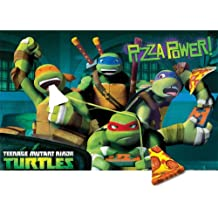 Teenage Mutant Ninja Turtles Pin the Pizza Party Game - Birthday and Theme Party Supplies
