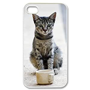 Personalized Durable Case Cover for iPhone 4,4S with Brand New Design Small cat