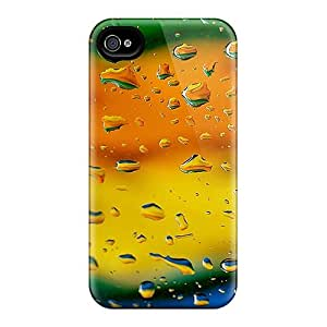 (feJoDkt124BEFjo)durable Protection Case Cover For Iphone 4/4s(colorful Raindrops)