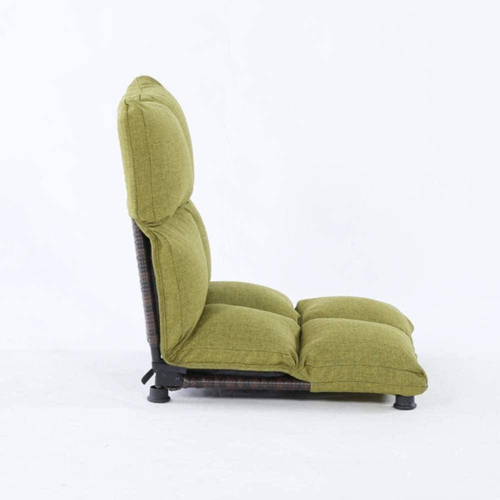 YTDHBLK Tribuna Asientos Confortables con Silla de Suelo Plegable Acolchada Tatami Meditation Chair F
