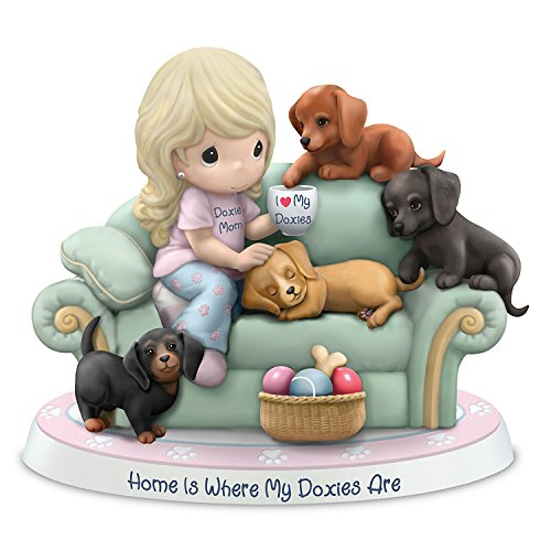 The Hamilton Collection Precious Moments Doxie Bisque Porcelain Figurine Supports ASPCA's Mission