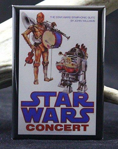 Star Wars Symphony Concert Poster Refrigerator Magnet. (Star Wars The Force Awakens In Concert)