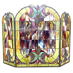 Victorian 3 Panel Delora Fireplace Screen by Chloe Lighting