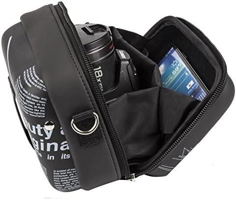 RIVACASE Riva 7051 PU Case for Video Camera Black//Newspaper