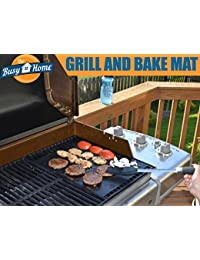 Investment The Busy Home BBQ Grill Mat and Bake Mat with 2 Recipe eBooks - 13 by 15.75 inch in Black- Set of 2 Mats lowestprice