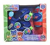 PlayWheels PJ Masks Roller Skates with Knee Pads - Childrens Adjustable Skates - Junior Size 6-12
