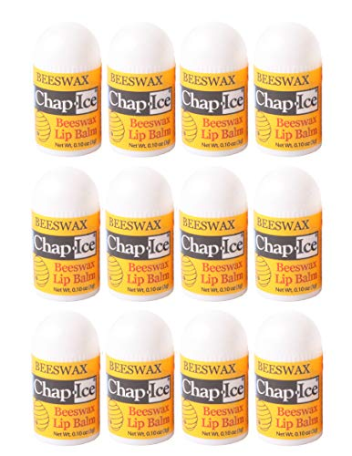 Chap-Ice | Mini Lip Balm - with Vitamin E and Moisturizers - Soothes, Moisturizes, Protects - 12 Count ()