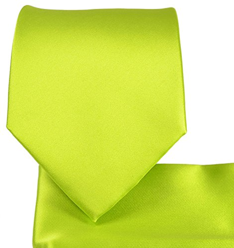 (Solid Pattern NeckTie Set (Lime)