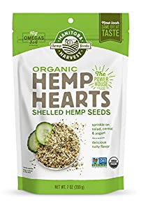 Manitoba Harvest Organic Hemp Hearts Raw Shelled Hemp Seeds, 7oz; with 10g Protein & Omegas per Serving, Non-GMO, Gluten Free