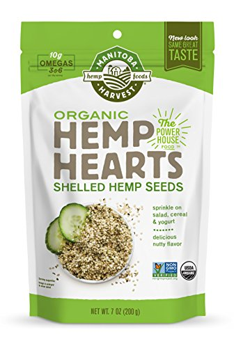Manitoba Harvest Organic Hemp Hearts Raw Shelled Hemp Seeds  7Oz  With 10G Protein   Omegas Per Serving  Non Gmo  Gluten Free