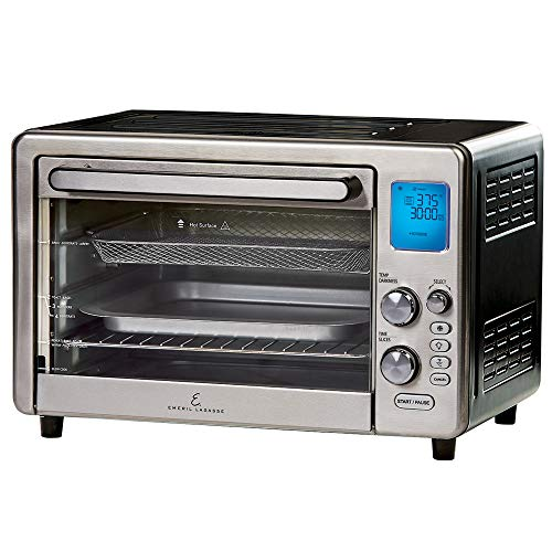 Emeril Lagasse Power Air Fryer 360 Max XL Family Sized Better Than Convection Ovens Replaces a Hot Air Fryer Oven, Toaster Oven, Rotisserie, Bake, Broil, Slow Cook, Pizza, Dehydrator & More. Emeril Cookbook. Stainless Steel. (MAX 15.6″ 19.7″ x 13″)