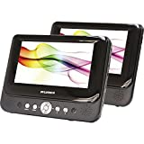 Sylvania SDVD9957 Portable DVD Player with Dual 9'' Screen (Black) (Certified Refurbished)