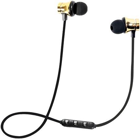 Image of DOGZI Auriculares magnéticos Bluetooth,Auricular inalámbrico Bluetooth para Deportes Auricular estéreo BT 4.1 Auriculares para Auriculares