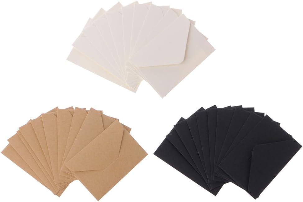 Yofo 50/pz mini Kraft buste regalo di ringraziamento festa di nozze buste biglietti buste piccole parti Classic flap buste White