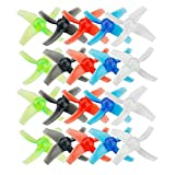 DishyKooker 10 Pairs 48mm 4-Blade 1.5mm Hole Propeller for Tiny GT7 GT8 2019 V2 FPV Racing Drone